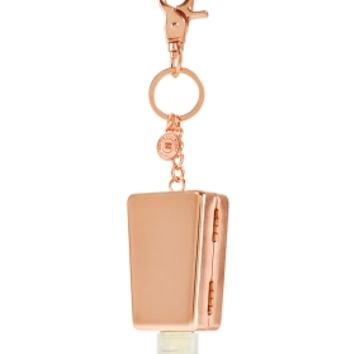 Designer Edition PocketBac Holder Rose Gold Metal Keychain Clip