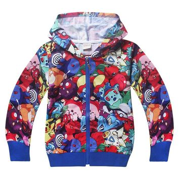 Pokemon hooded Sweater