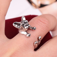 Stylish Shiny Jewelry New Arrival Gift Dogs Lovely Animal Couple Ring [6586078151]