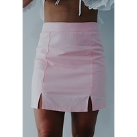 Starting Over Skirt: Baby Pink