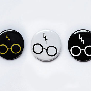 Harry Potter glasses and scar badge