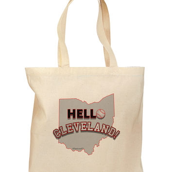 Hello Cleveland Grocery Tote Bag