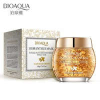 BIOAQUA Osmanthus Petal Mask Plant Bright Petals Clay Sleeping Nourishing Skin Care lifting Face Mask Acne Treatment Black mask