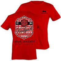 Simply Southern Preppy Football Tailgates With The Best RSVP Red T-Shirt
