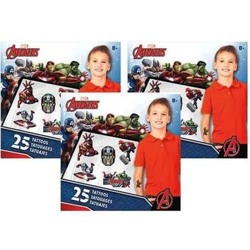 The Avengers Assemble Mini Tattoo Set [3 Pack]