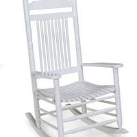 Jack Post  KN-22W-JE Knollwood Classic Wood Rocking Chair, Gloss White