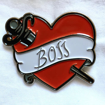Rocky Horror Picture Show enamel pin Boss tattoo Dr. Frank-N-Furter