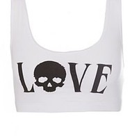 Teenage Runaway Love Skull Sports Bra - 300544