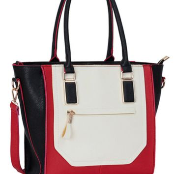 Valentine Red, White and Black Tote Bag