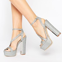 Lipsy Billie Silver Heeled Sandals