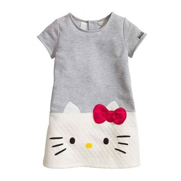 HOT Baby Girls Dresses Hello Kitty 2018 Brand Children Dresses For Girls  Princess Dress Christmas Kids Clothes