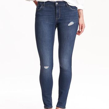 Old Navy Womens Mid Rise Rockstar Skinny Jeans