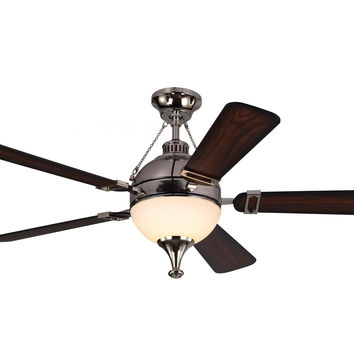 "Monte Carlo 54"" Essex - Polished Nickel - Ceiling Fan 5ESR54PND"