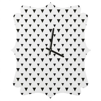 Allyson Johnson Upside Down Triangles Quatrefoil Clock