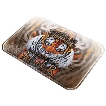 Always Be Yourself Unless Wild Tiger All Over Glass Cutting Board