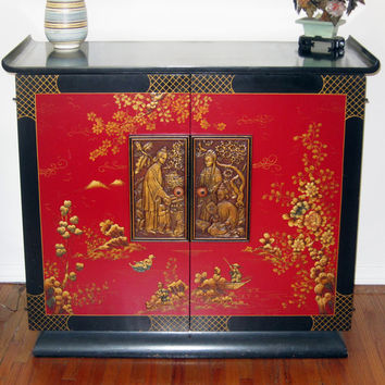 Mid century Chinoiserie stereo cabinet