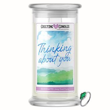 Thinking About You | Jewelry Greeting Candle