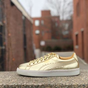 KUYOU Puma Suede Classic 50th Gold 366341-01