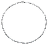 Lord & Taylor Sterling Silver and Cubic Zirconia Necklace