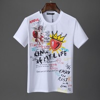D&G Dolce & Gabbana Men Fashion T-Shirt Top Tee