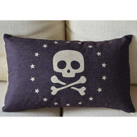 Skull Head Decorative Pillow B [085] : Cozyhere