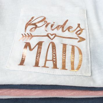 Bridesmaid Pocket T-Shirt - Boho
