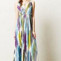 Brushstrokes Maxi Dress by James Coviello Blue Motif M Dresses