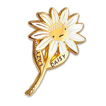 Lazy Daisy Flower Pin