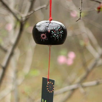 Ceramic  Japanese  Wind chimes Lucky bells hanging decorations