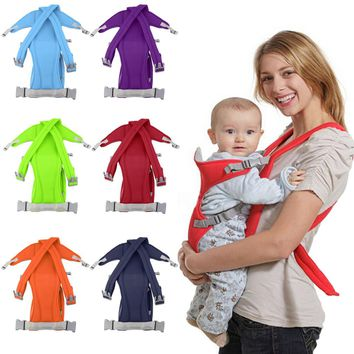 Infant Baby Carrier Newborn Cradle Kids Sling Wrap Pouch Bag Baby Kangaroo New Breathable Adjustable Front Back Rider Backpack
