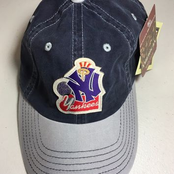 AMERICAN NEEDLE NEW YORK YANKEES COOPERSTOWN COLLECTION GRAY BRIM ADJUSTABLE HAT