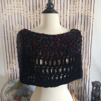 FREE SHIPPING - Crochet, Cowl, Infinity, Scarf - Black, Maroon, Purple, Blue, Green
