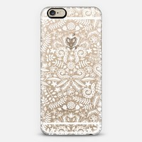 Little Nature Doodles - white on transparent iPhone 6 case by Micklyn Le Feuvre | Casetify