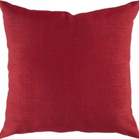 Storm Throw Pillow Red