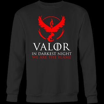Pokemon valor in darkness knight we are the flame Sweatshirt  T Shirt- TL00627SW