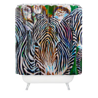 Jenny Grumbles Study In Stripes Shower Curtain