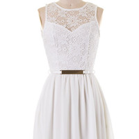 Dining on the Terrace Dress - White