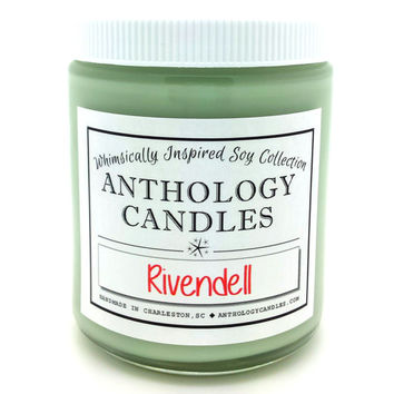 Rivendell Candle - Anthology Candles, Lord of the Rings Candle, The Hobbit Candle, Elves Candle, Book Candle, 8 oz Jar