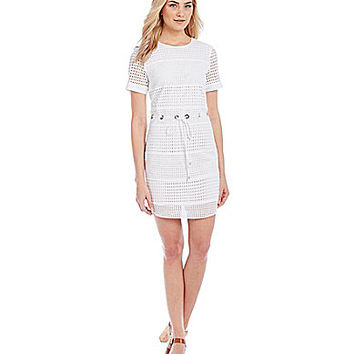 MICHAEL Michael Kors Mini Circle Eyelet Panel Dress | Dillards.com