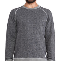 Norse Projects Vorm Loomed Flame Sweatshirt in Gray