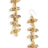Serefina Linear Floral Statement Earrings | Nordstrom