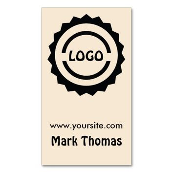 Hipster Logo Badge Double-Sided Standard Business Cards (Pack Of 100)