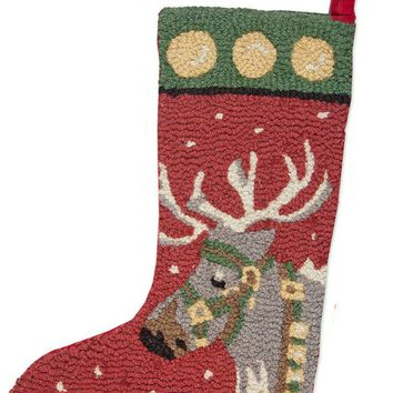 "20"" Christmas Stocking with Reindeer"