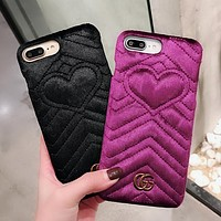 GUCCI Fashion iPhone Phone Cover Case For iphone 6 6s 6plus 6s-plus 7 7plus iphoneX