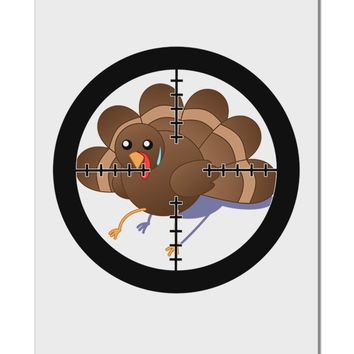 "Turkey Trouble - Thanksgiving Funny Aluminum 8 x 12"" Sign"