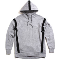 Strap Rugger Pullover Hoody Grey Marle