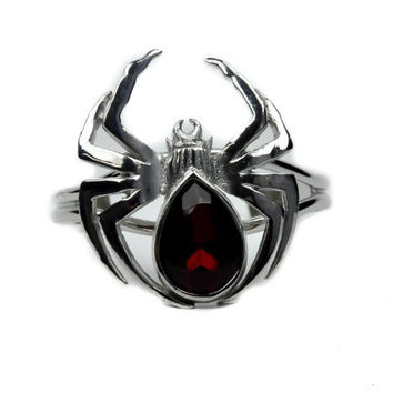 Black Widow Spider Gothic Slave Bracelet Jewelry