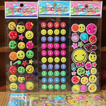 Expression pack smiling cartoon bubble stick pocket toys European and American movie cartoon characters stickers