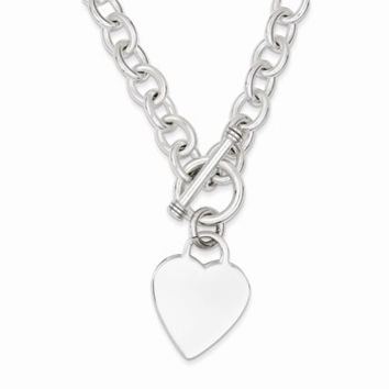 Heart Fancy Link Toggle Necklace