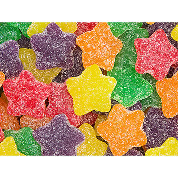 Super Sour Jelly Stars Candy: 5LB Bag